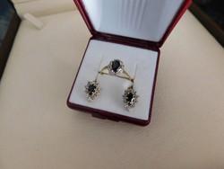 Arany 14k Női gyűrű + fülbevaló pár  4.2 gr
