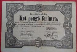 2 Forint 1849 Kossuth Hibás szőveg EF                                                   K001