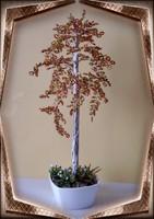 Gyöngyből készített őszi nyírfa GYV02-3-33