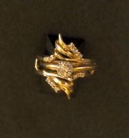 14K. gyemant  gyuru-/egy  gyuru,ket darabbol/