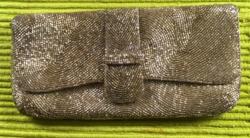 Szecessziós gyöngy alkalmi táska
