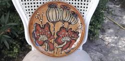 Retro kerámia fali tányér