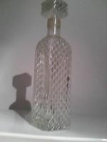 Retró üveg, pálinkás vagy whiskys palack, csavaros kupakkal
