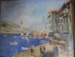 Dél Francia festmény galériás keretben