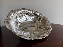 Kapitális Art Deco Ezüst Gyümölcsös Tál