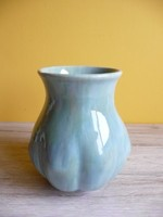 Gorka Géza kerámia váza türkiz színű mázzal