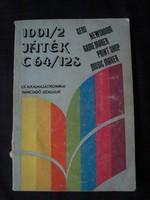 Kiss László - 1001/2 játék C 64/128 játék könyv Commodore 64-re