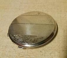Antik ezüst puderes kompakt
