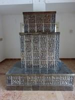 Cserépkályha - Németh János keramikus munkája