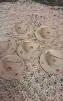 Zsolnay kávés csésze 6 darab jelzett