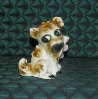 Bájos régi Sitzendorf kutya figura