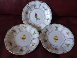 Rózsás Ilmenau porcelán desszert tányér(3db)