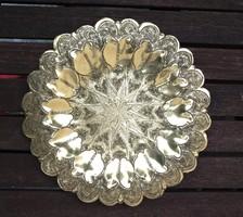 Réz fali dísz tányér csillag mintával