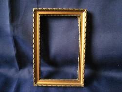 Antik kisméretű képkeret kép ráma 15,5 x 10,5 cm