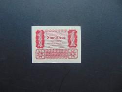 1 korona 1922 Szép ropogós bankjegy  02