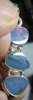 925 ezüst medál, ausztráliai opál szeletekkel