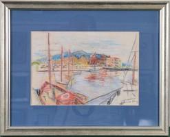Diener-Dénes Rudolf (1889-1956): Kikötői látkép