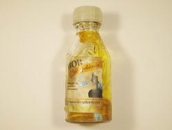 Retro VEBOR hajápolószer üveg palack papír címkével - Első Vegyi Industria Szövetkezet - 1970-es év