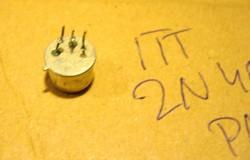 2N4033 TRANZISZTOR RÉGI ITT PNP 80V 1A 1,25W TO-39 Small Signal Switching Transistor-MPL csomagauto