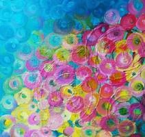 """""""Flow"""" szignózott eredeti absztrakt olajfestmény Közvetlen a művésztől!"""