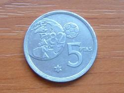 SPANYOL 5 PESETA 1980 (81) FOCI VB '82