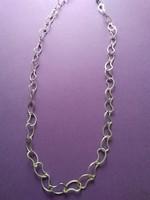 Nagyszemű hosszú ezüst nyaklánc