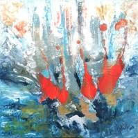 """""""Ébredés"""" szignózott eredeti absztrakt festmény Közvetlen a művésztől!"""
