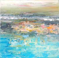 """""""Virágos víztükör"""" szignózott eredeti absztrakt festmény Közvetlen a művésztől!"""