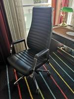 Uj forgó tiszta bőr irodai szék,több funkciós
