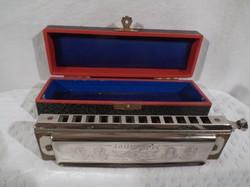 CHROMONIKA II.- 1937-es Hohner Harmonica - eredeti dobozában - tökéletesen működik