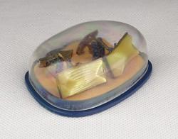 0Y018 Elegáns aranyszínű mandzsetta pár dobozában