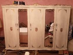 AKCIÓ! SZEKRÉNYVÁSÁR! KIÁRUSÍTÁS chippendale ruhásszekrény, '50-es évek, barokk stilusu