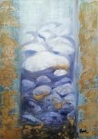 Eredeti modern absztrakt olajfestmény,közvetlen a művésztől!50x70cm