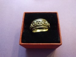 Különleges aranyozott ezüst gyűrű /18 gr/