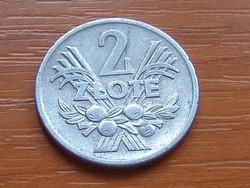 LENGYEL 2 ZLOTY ZLOTE 1974 ALU.