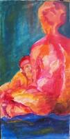 Absztrakt eredeti olajfestmény Szignózott, közvetlen a művésztől!