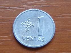 LITVÁNIA 1 CENTAS 1991 ALU.