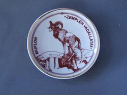 Hollóházi porcelán dísztányér - Muflon