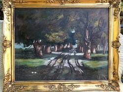 Erdei út (olaj, vászon, 90x70)