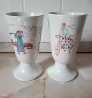 2 db talpas csésze, kehely
