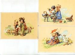 3 db postatiszta, nagyon kedves húsvéti képeslap