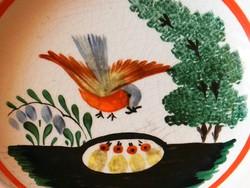 Hollóházi (Szakmary)kézi festett ritka falitányér ,átm.: 25 cm