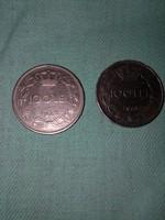 100 Lei-es érmék a 40-es évekből