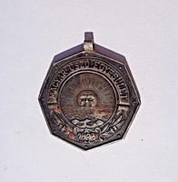 1893 Magyar Úszó Egyesület érem, agárfejes jelzéssel