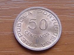 PORTUGÁL MOZAMBIK 50 CENTAVOS 1973