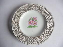 Herendi virágos fali tányér