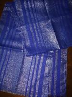 Kék-ezüst sál