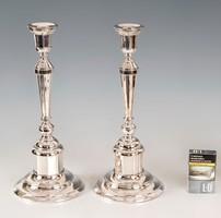Ezüst art deco gyertyatartó párban