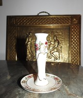 Aranyfestéses zsolnay pillangó mintás asztali gyertyatartó