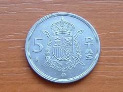 SPANYOL 5 PESETA 1983 M  #
